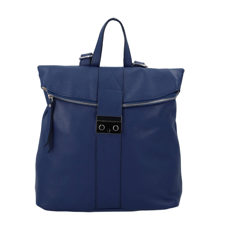 Dámský kožený batůžek modrý - ItalY Ahmed