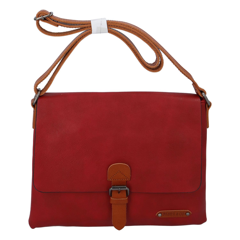 Dámská crossbody kabelka červená - FLORA&CO Jacuza