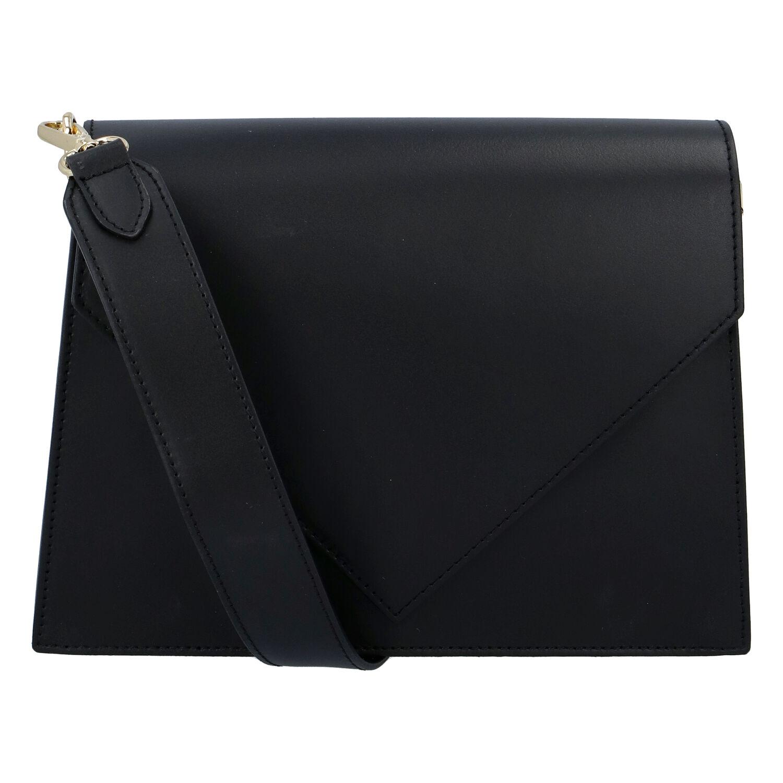 Luxusní kožená crossbody kabelka černá - ItalY Wien