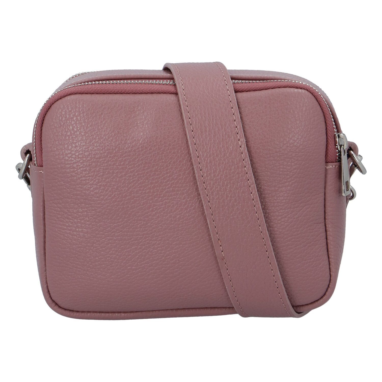 Kožená crossbody kabelka růžová - ItalY Quadro