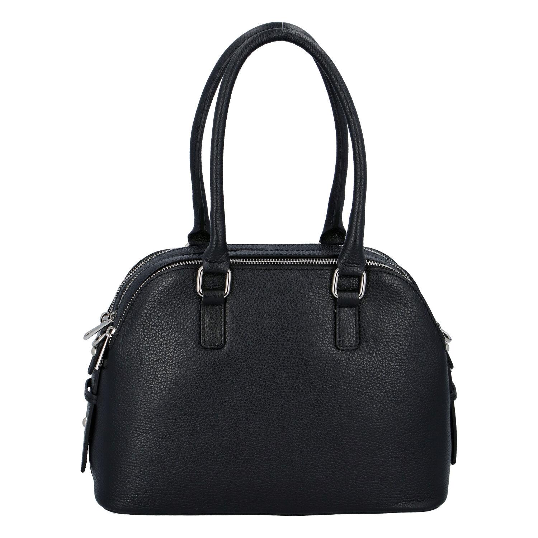 Módní dámská kožená kabelka černá - ItalY Salva