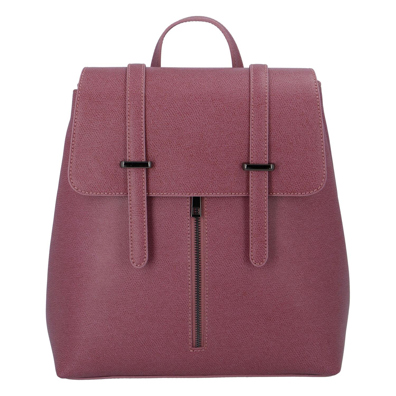 Dámský kožený batoh fialově růžový - ItalY Waterfall