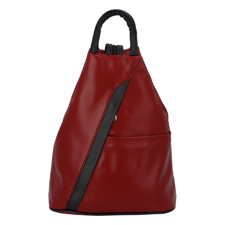 Dámský kožený batůžek červený - ItalY Iris