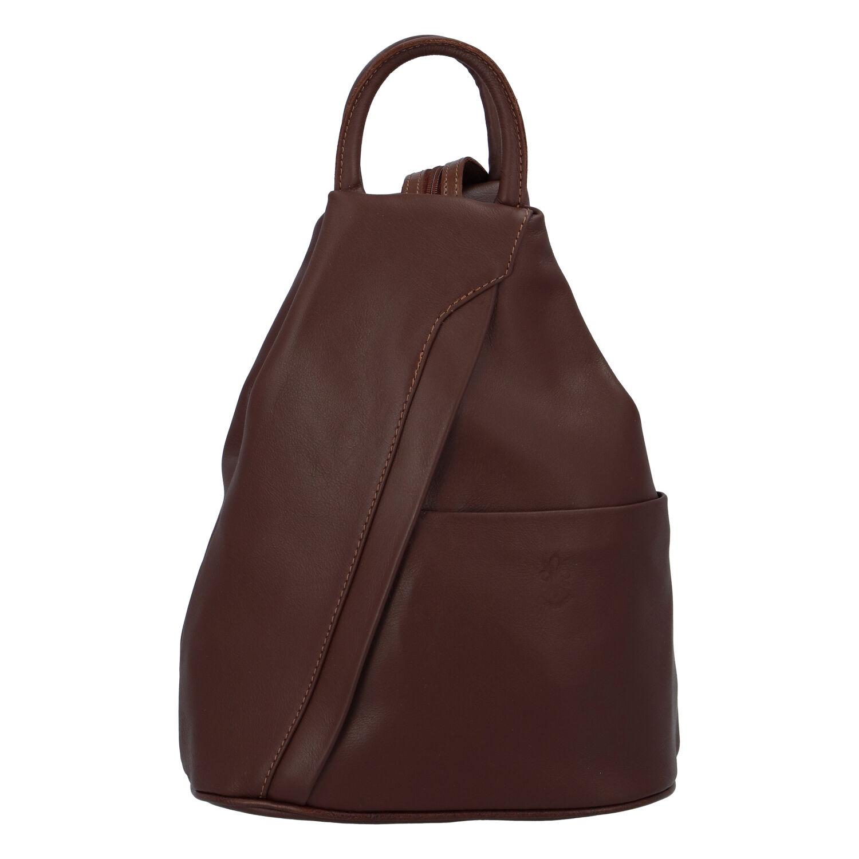 Dámský kožený batůžek hnědý - ItalY Iris