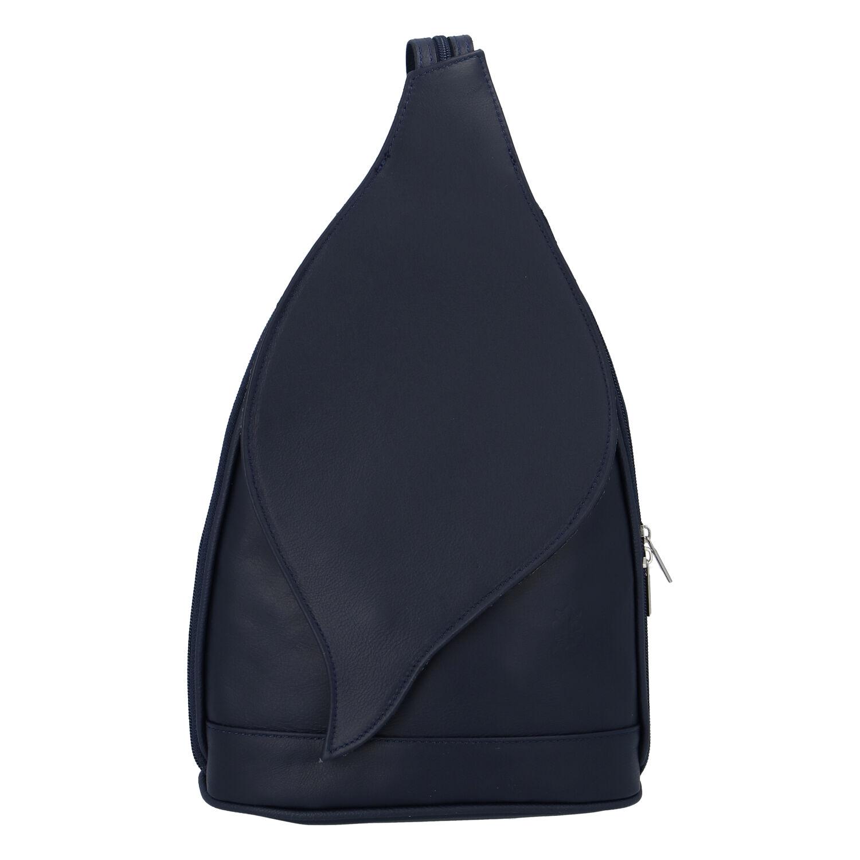 Dámský kožený batůžek tmavě modrý - ItalY Strap