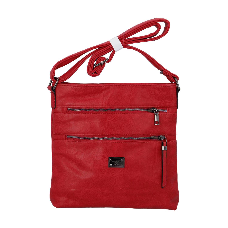 Dámská crossbody kabelka červená - Romina Chiara