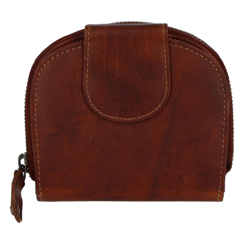 Kvalitní dámská kožená retro peněženka hnědá - Tomas 155VN