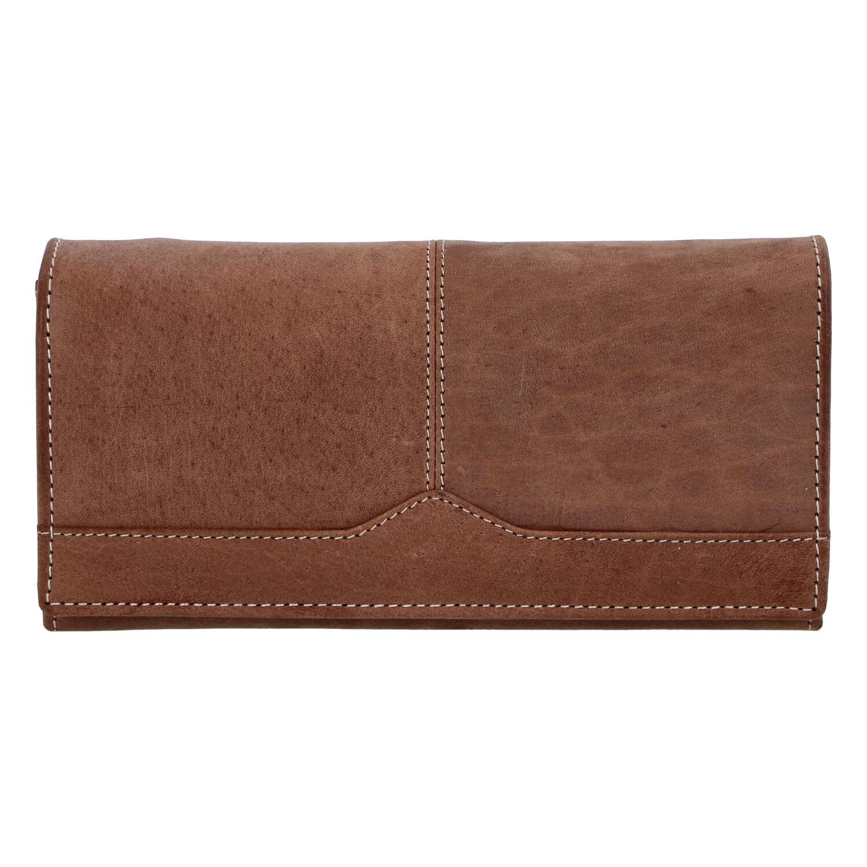 Dámská kožená peněženka hnědá broušená - Tomas Slat