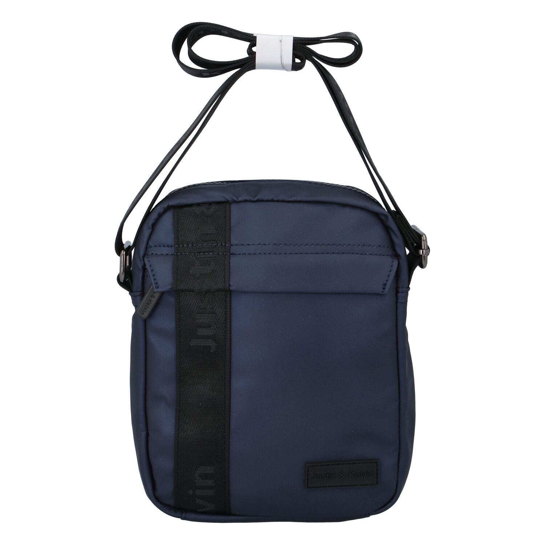 Pánská crossbody taška na doklady tmavě modrá - Justin & Kelvin Harry