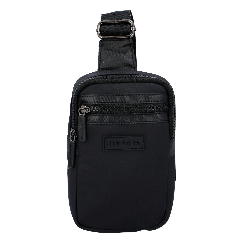 Pánská taška na doklady černá - Justin & Kelvin John