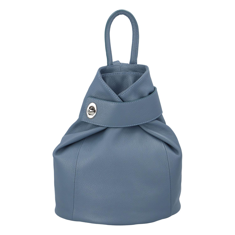 Dámský kožený batůžek modrý - ItalY Vazky