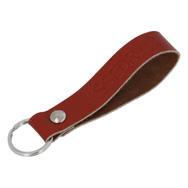 Kožená klíčenka poutko na klíče hnědá - SSFDR Azuro