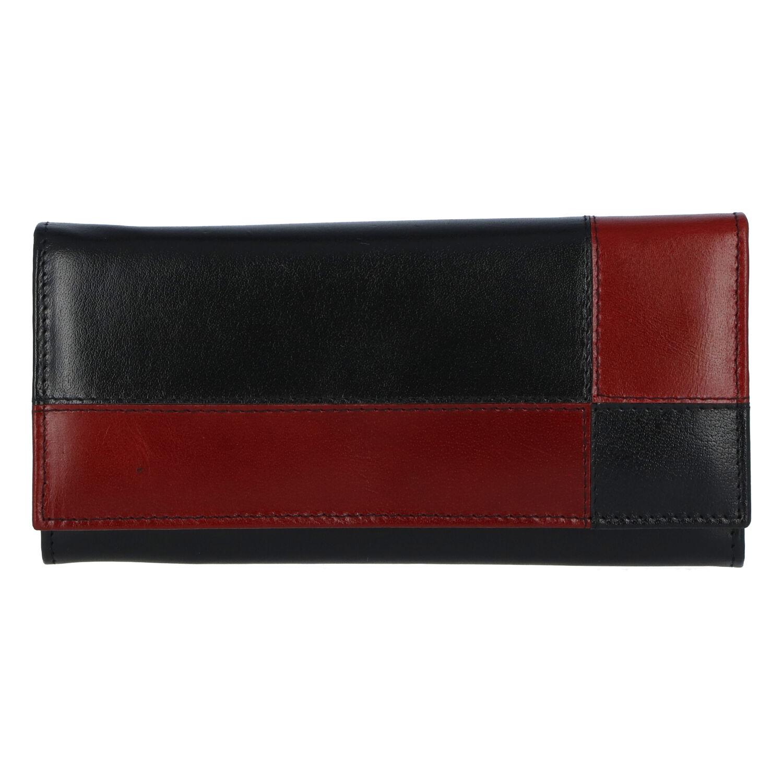 Dámská kožená peněženka černo červená - Tomas Farbe