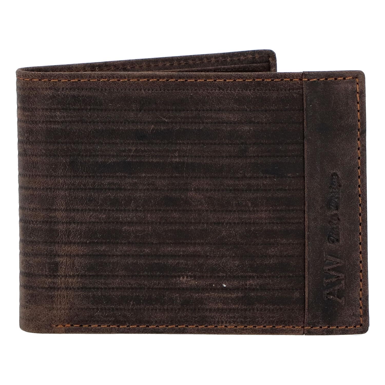 Pánská kožená peněženka hnědá - WILD Rialto