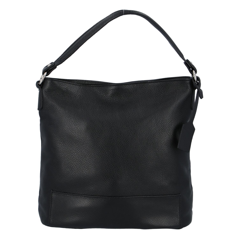 Dámská kožená kabelka přes rameno černá - ItalY Roterry