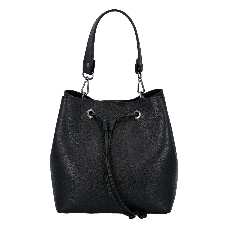 Dámská kožená kabelka černá - ItalY TianJin