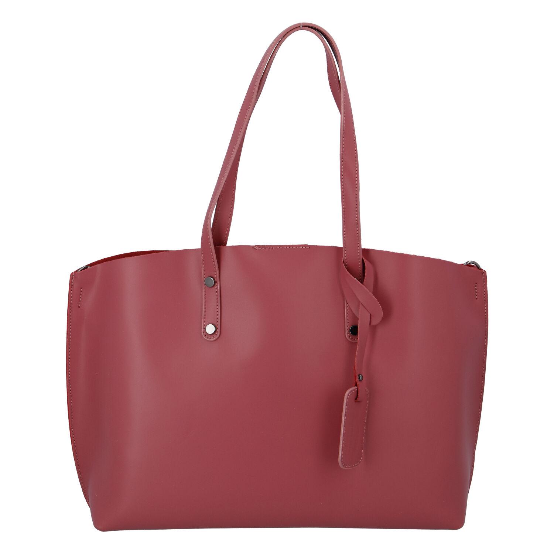 Dámská kožená kabelka tmavě růžová - ItalY Jordana Two