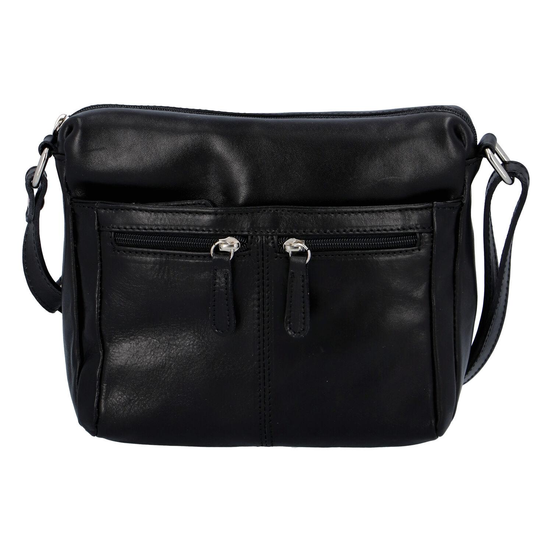 Dámská kožená crossbody kabelka černá - ItalY ItOff