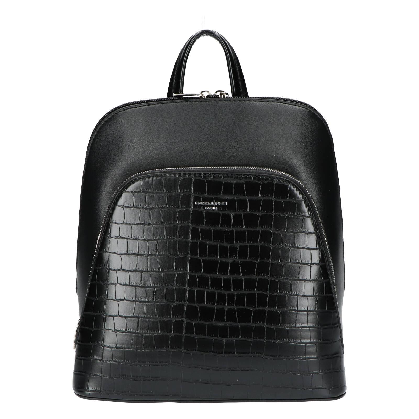 Dámský městský batoh černý - David Jones Yordan Kroko