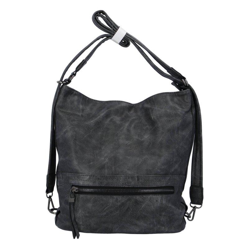 Dámská kabelka batoh tmavě šedá - Romina Nikka