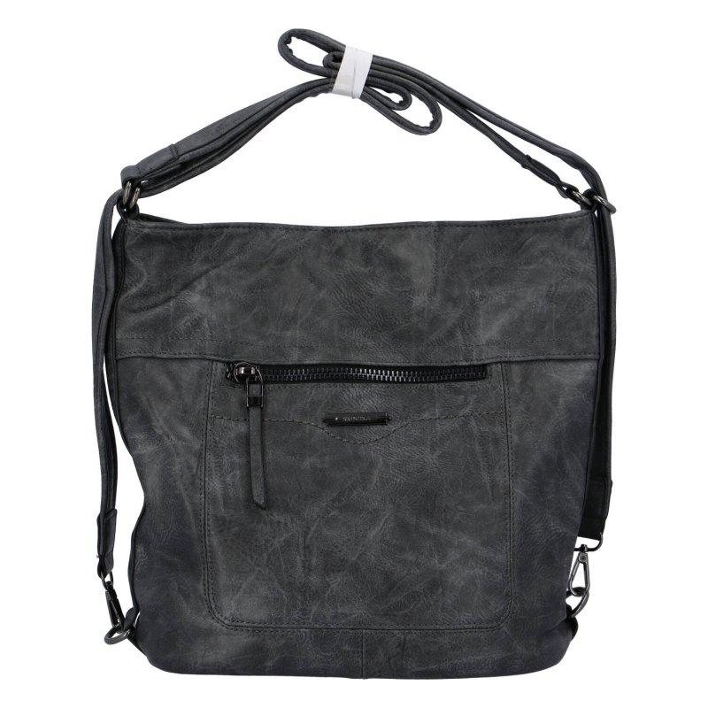 Dámská kabelka batoh tmavě šedá - Romina Wamma