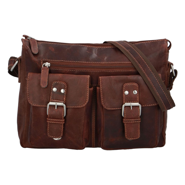 Kožená taška přes rameno hnědá - Greenwood Intrakt