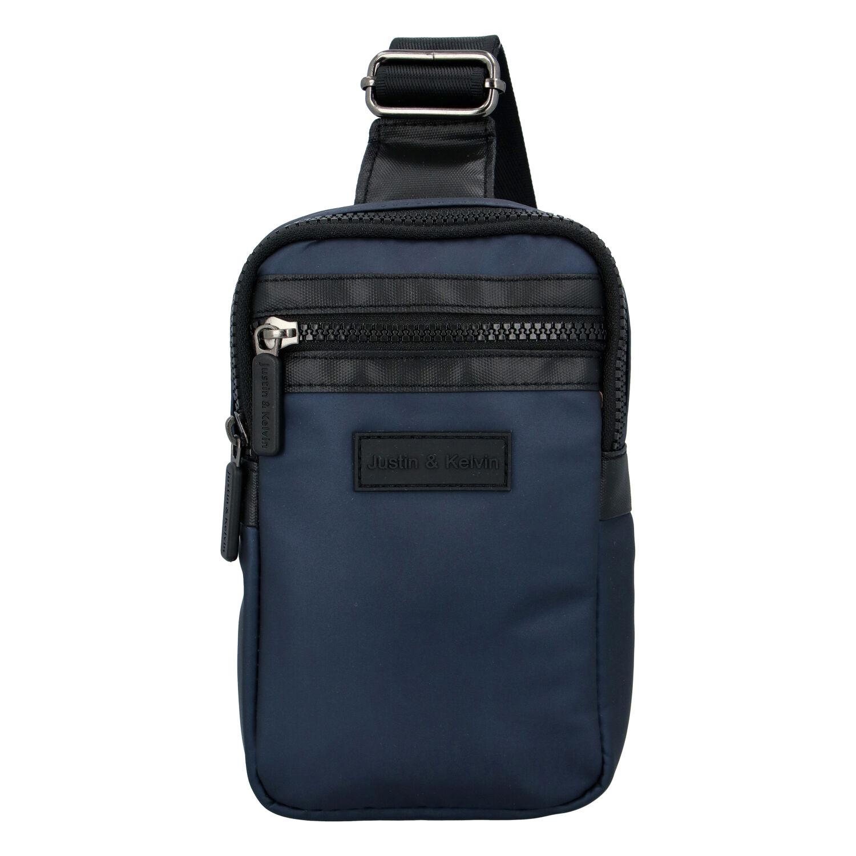 Pánská taška na doklady tmavě modrá - Justin & Kelvin John