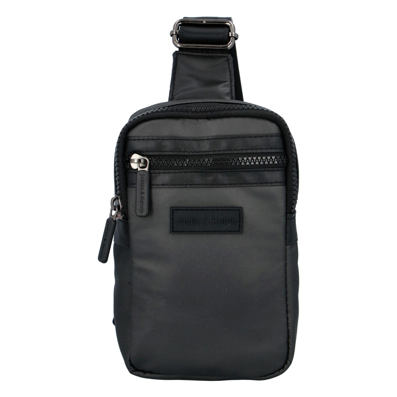 Pánská taška na doklady tmavě šedá - Justin & Kelvin John