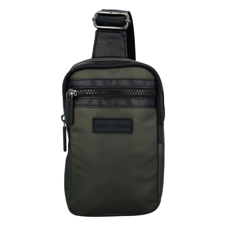 Pánská taška na doklady tmavě zelená - Justin & Kelvin John