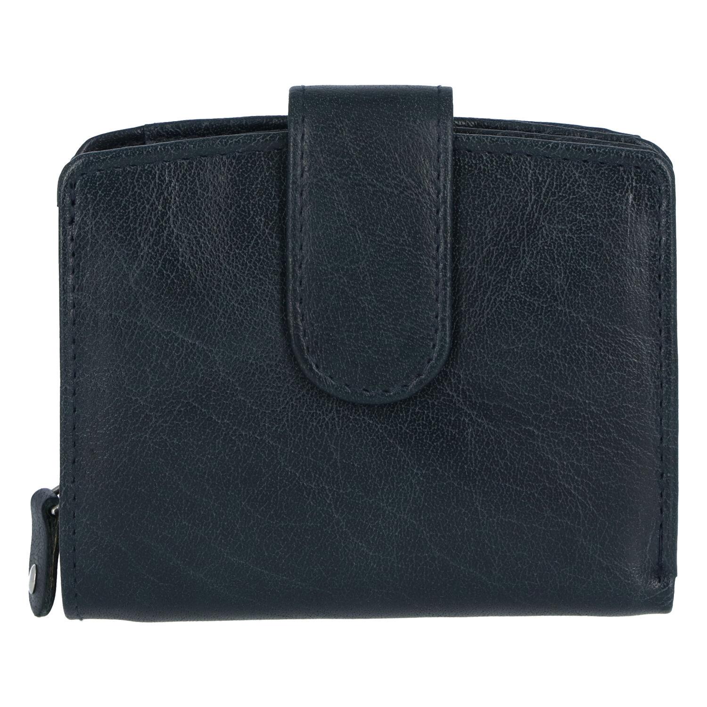 Dámská kožená peněženka tmavě modrá - Tomas Coulenzy