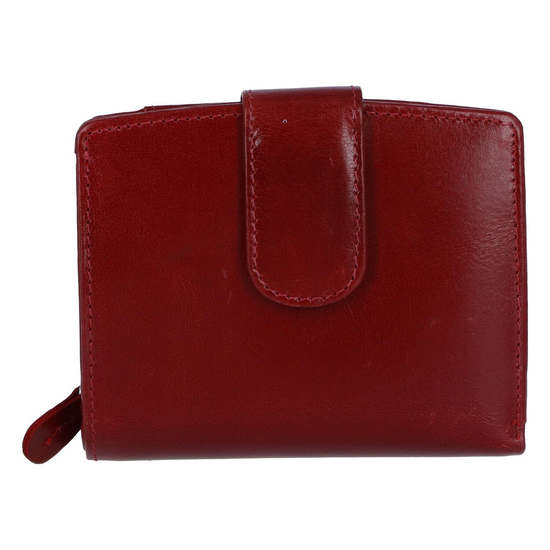Dámská kožená peněženka tmavě červená - Tomas Coulenzy