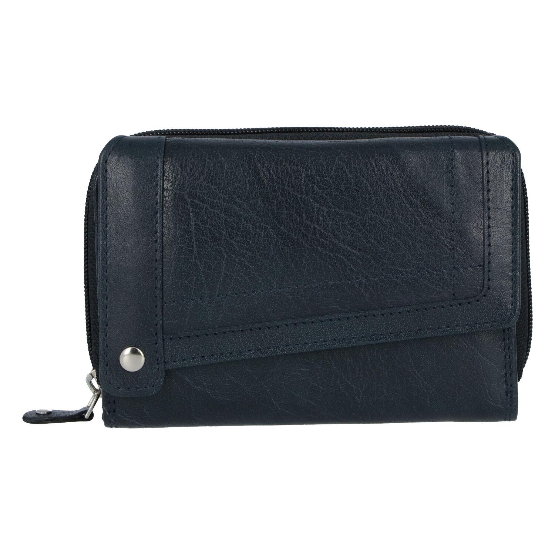 Dámská kožená peněženka tmavě modrá - Tomas Feisol