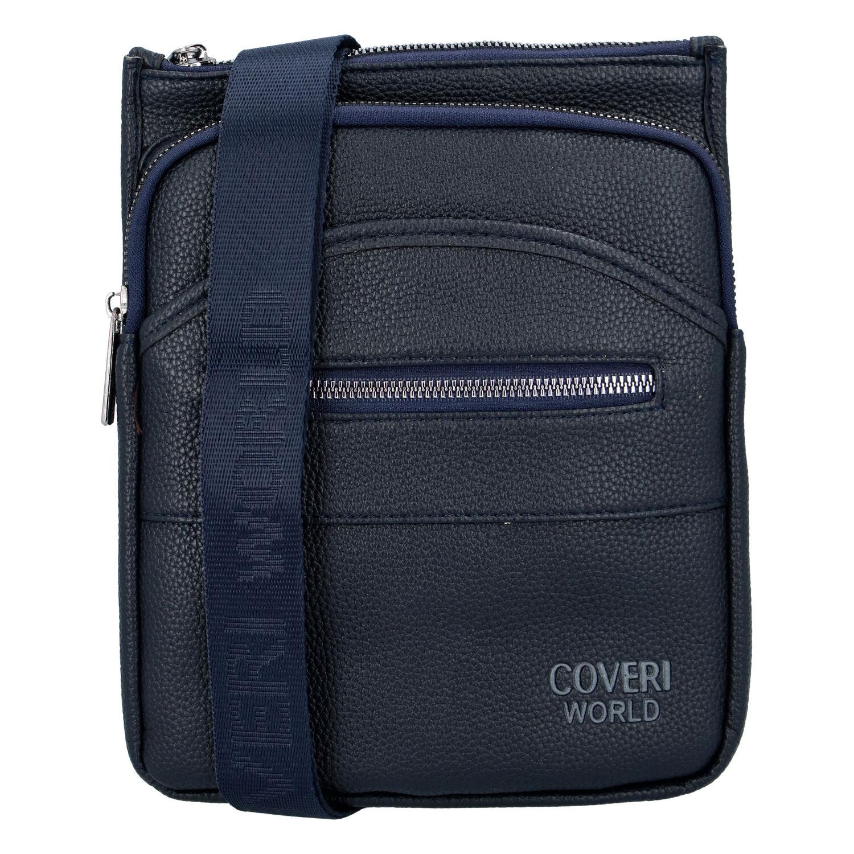 Moderní pánská crossbody taška modrá - Coveri Matthew