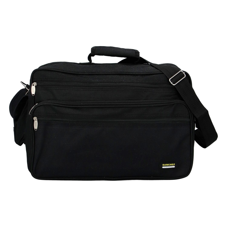Pánská látková taška přes rameno černá - Sanchez Gurak