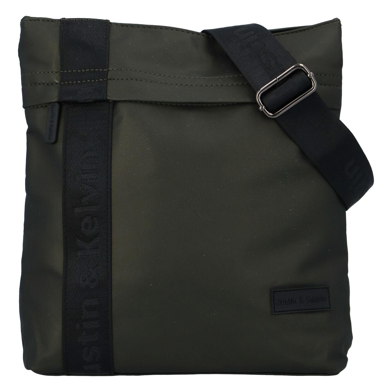Pánská sportovní crossbody taška tmavě zelená - Justin & Kelvin Victor