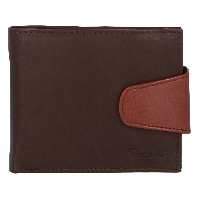 Pánská kožená peněženka tmavě hnědá - Delami 11816