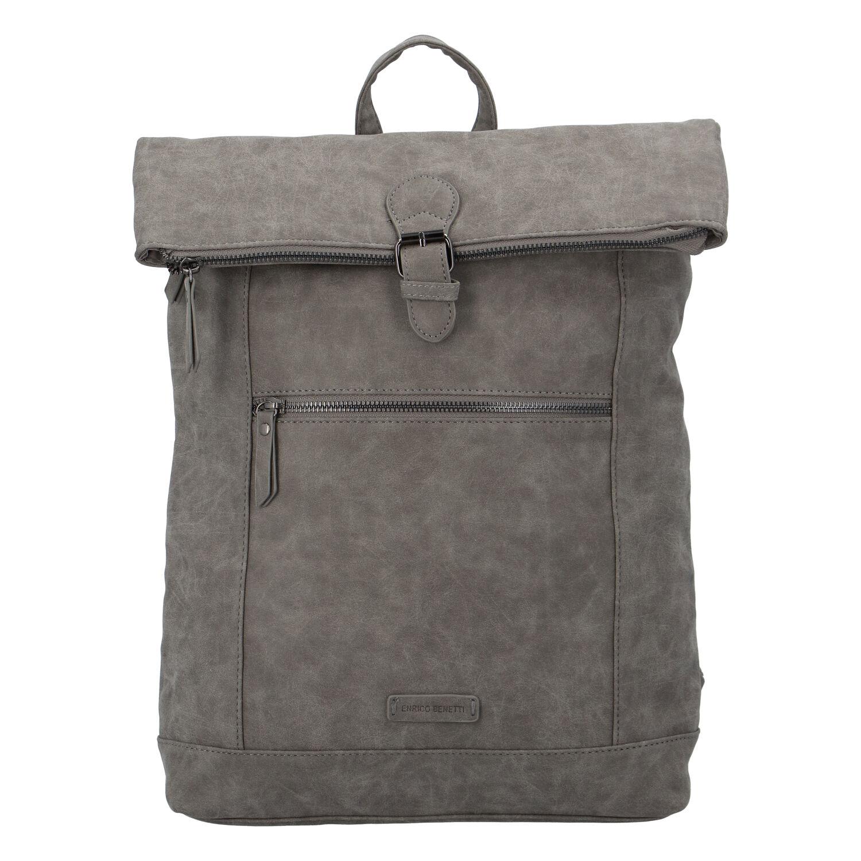 Stylový velký batoh šedý - Enrico Benetti Amsterodam