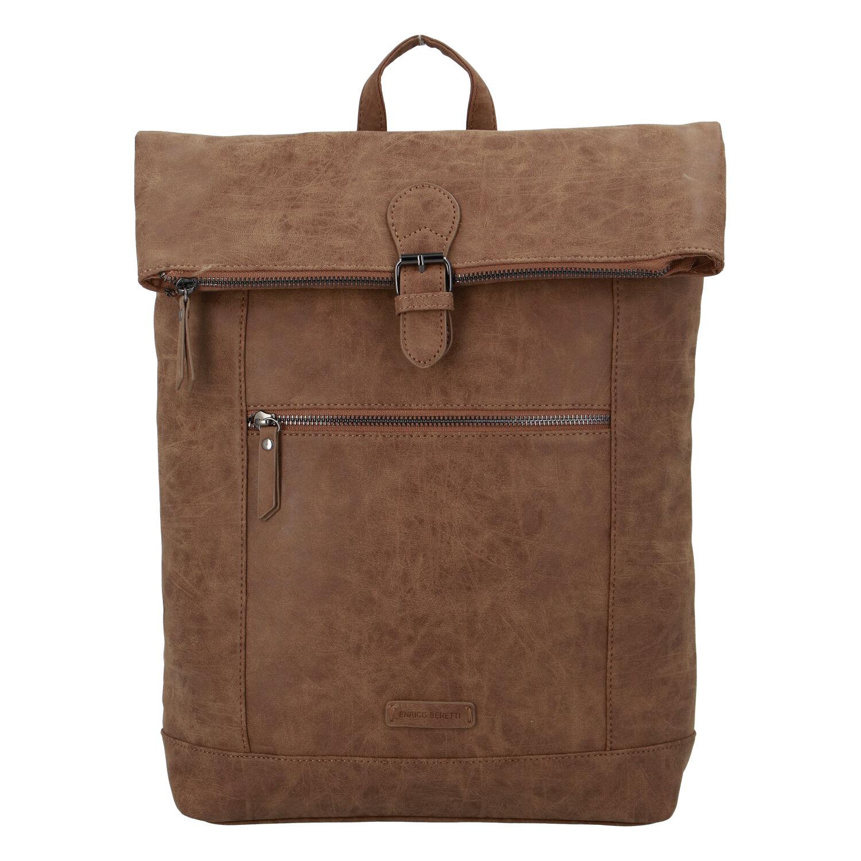 Stylový velký batoh camel - Enrico Benetti Amsterodam