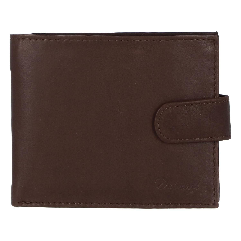 Pánská kožená hnědá peněženka - Delami 9371
