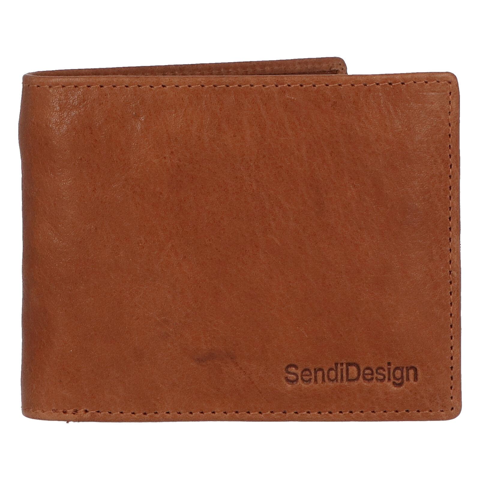Pánská kožená peněženka světle hnědá - SendiDesign Boster