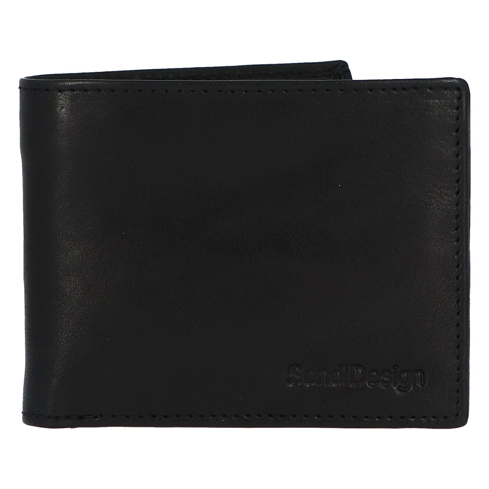 Pánská kožená peněženka černá - SendiDesign Boster