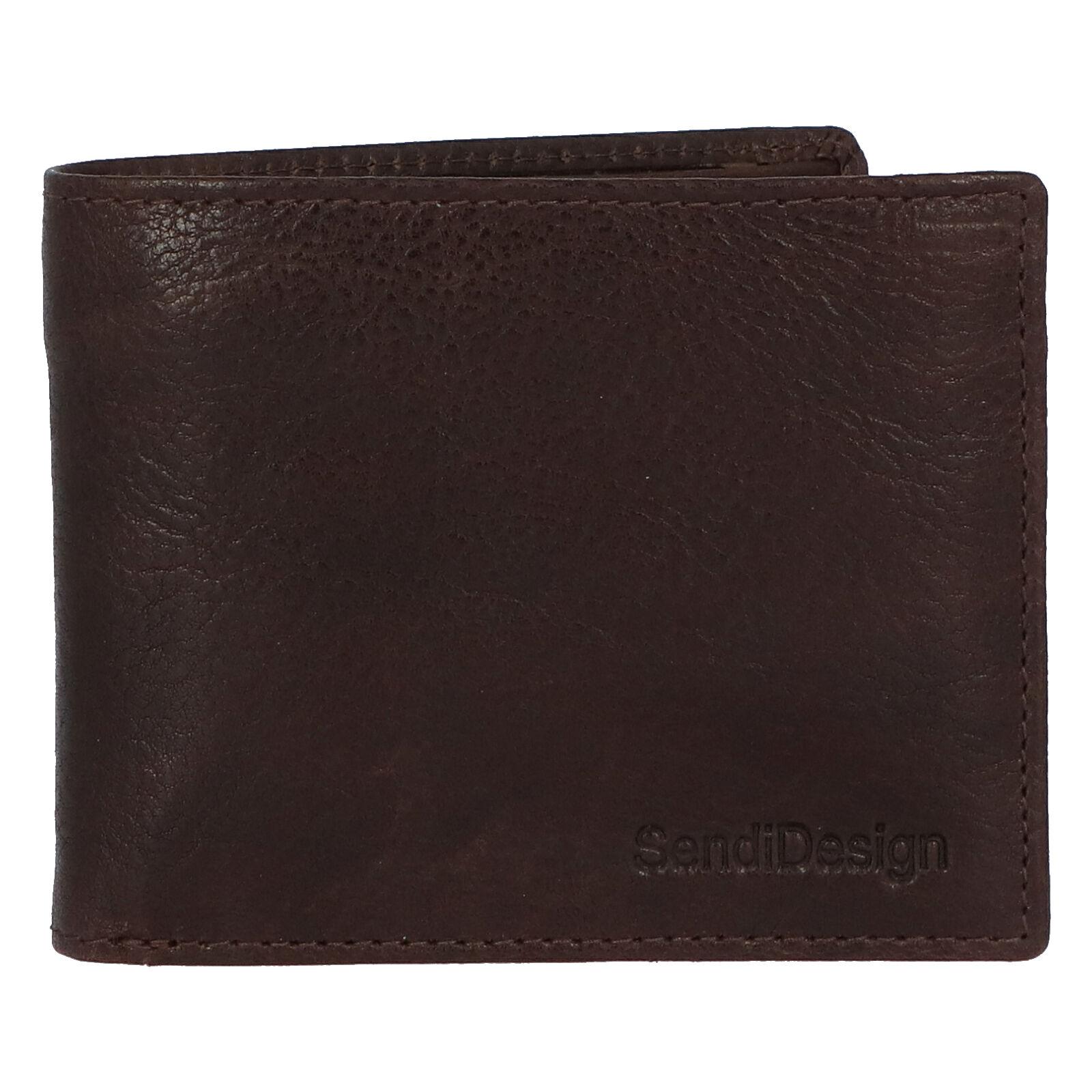 Pánská kožená peněženka hnědá - SendiDesign Boster