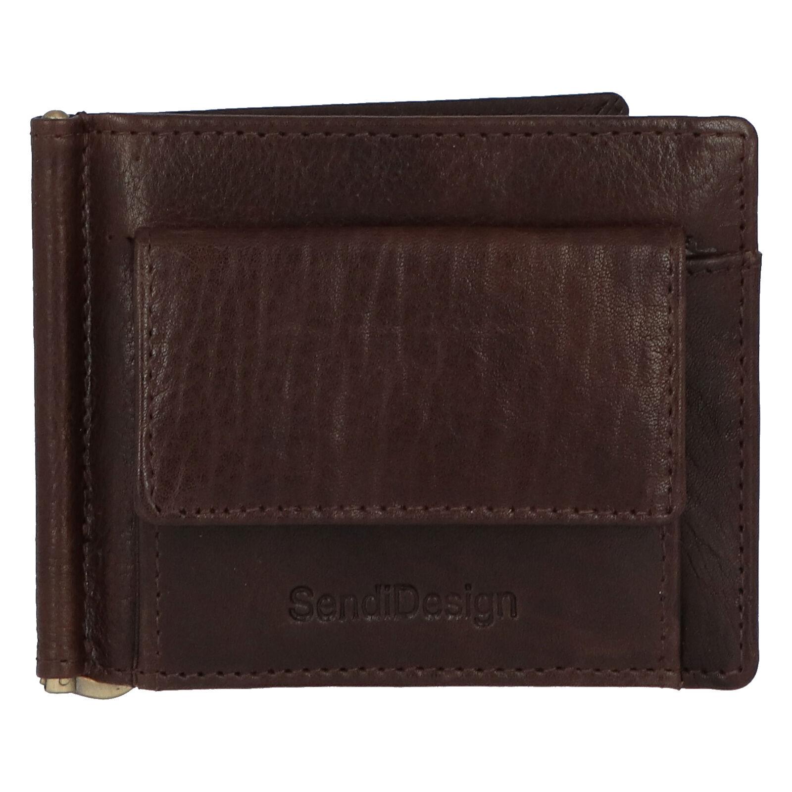 Pánská kožená dolarovka hnědá - SendiDesign Rtex Dark