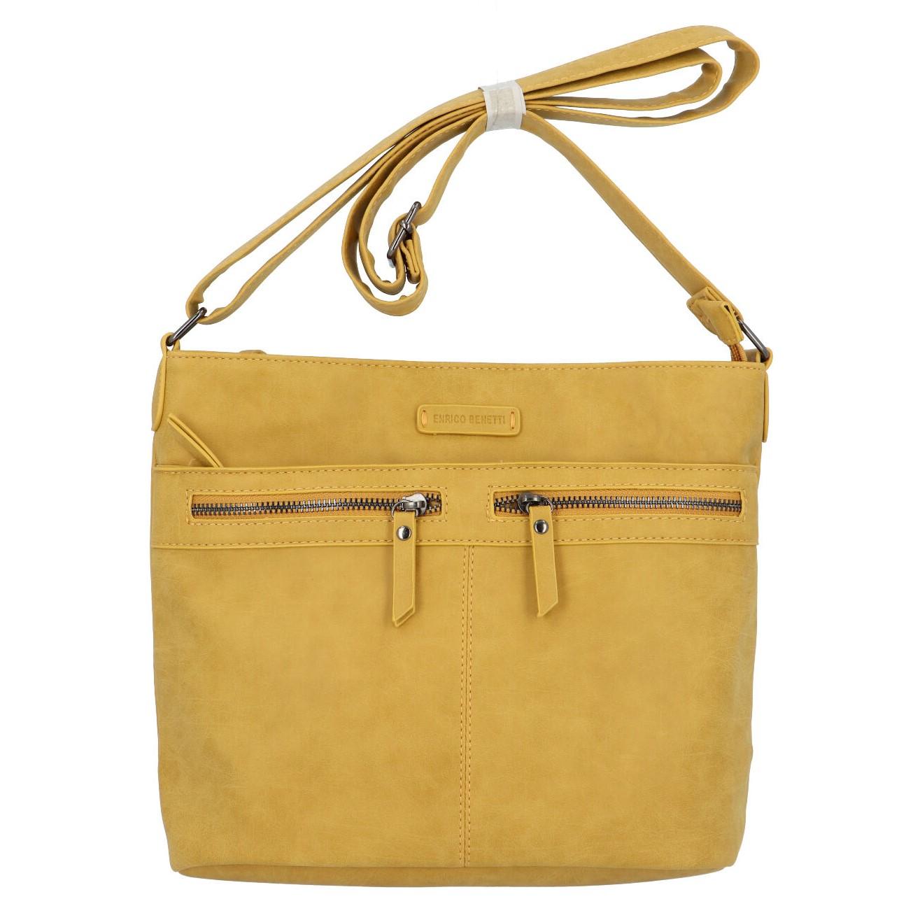 Dámská crossbody kabelka žlutá - Enrico Benetii Nymea