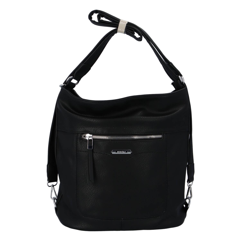 Dámská kabelka batoh černá - Romina Wamma