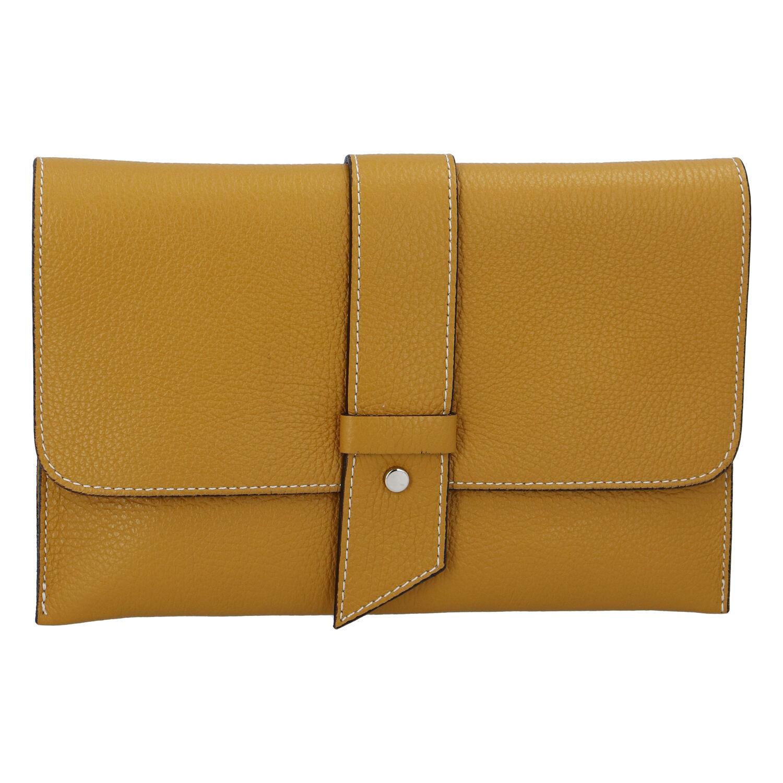 Luxusní dámská kabelka tmavě žlutá - ItalY Brother