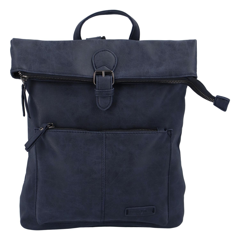 Stylový střední batoh tmavě modrý - Enrico Benetti Amsterdam