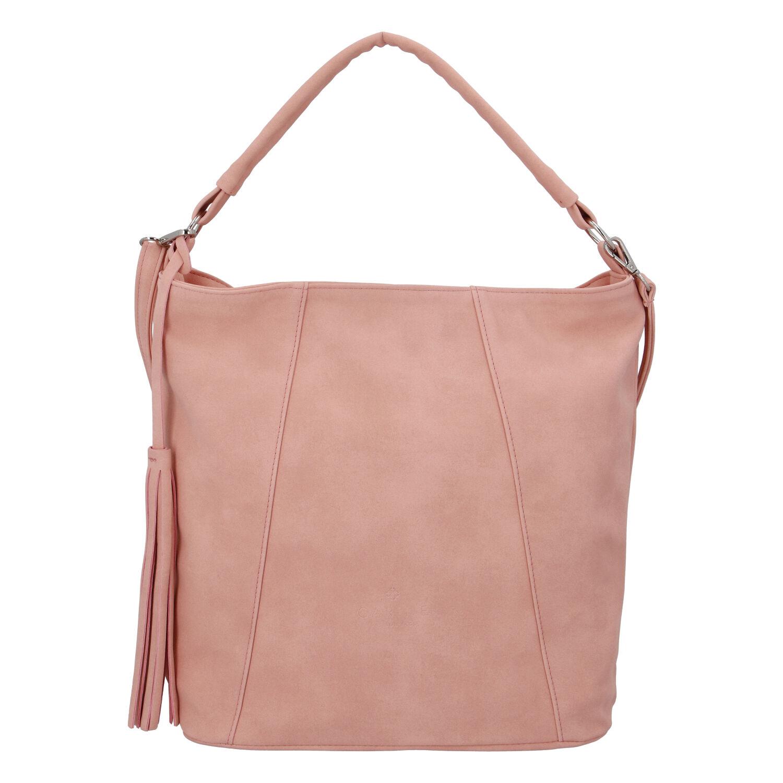 Módní dámská kabelka růžová - Carine Baylee