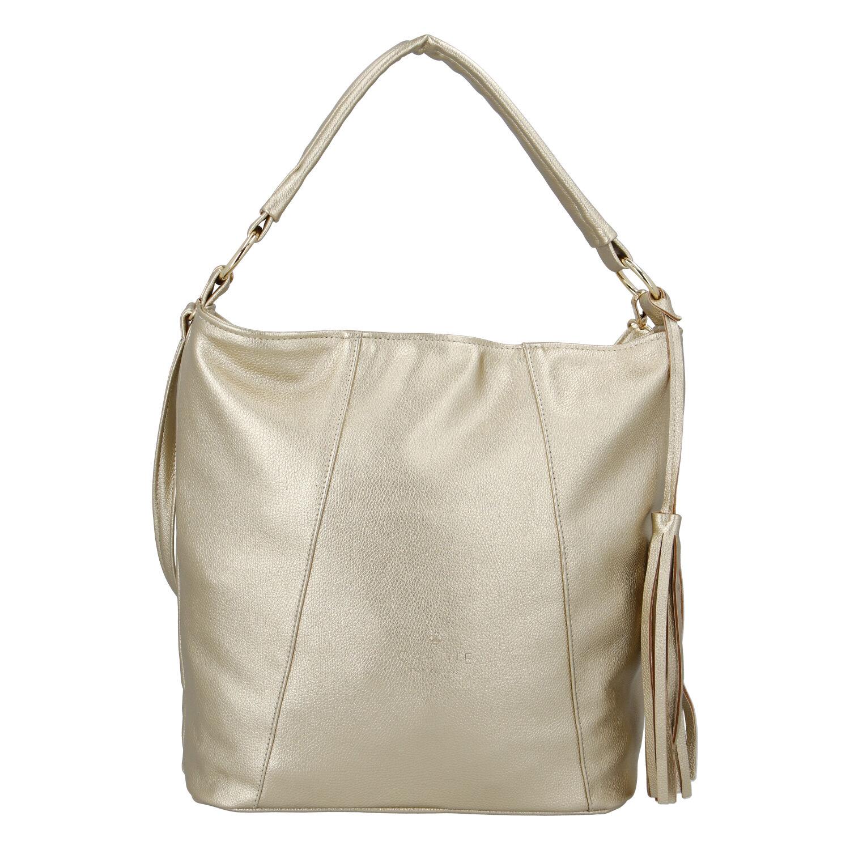 Módní dámská kabelka zlatá - Carine Baylee