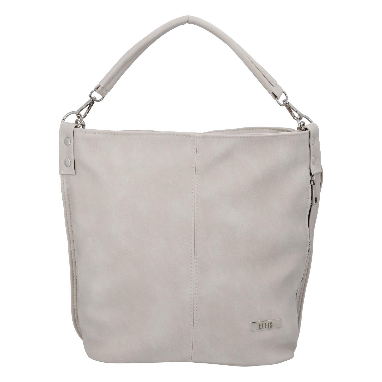 Elegantní dámská kabelka přes rameno krémově šedá - Ellis Negina